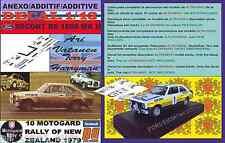 ANEXO DECAL 1/43 FORD ESCORT RS 1800 MK II ROTHMANS A.VATANEN R NEW ZEALAND (01)