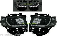 VW T4 CARAVELLE MULTIVAN LED BLACK FRONT HEADLAMPS HEAD LAMP HEADLIGHT 2H1 PAIR