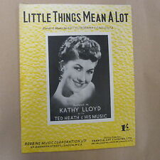 song sheet LITTLE THINGS MEAN A LOT Kathy Lloyd 1954