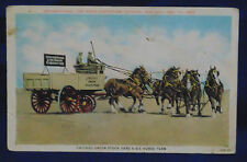 1929 POSTED POSTCARD - CHICAGO UNION STOCK YARD'S SIX-HORSE CLYDESDALES