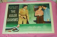 original THE KILLER SHREWS lobby card #5 James Best Ingrid Goude Ken Curtis