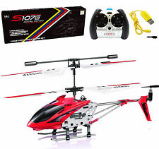 Cheerwing S107G 3.5CH Phantom Mini Metal Remote Control RC Helicopter GYRO Red