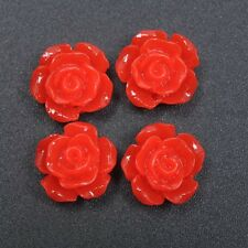 Lots 20pcs Gorgeous Rose Flower Coral Spacer Beads, Color - Choose 10MM, 12MM
