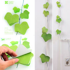 Cute Simulation Green Leaf Sticky Note Memo Pad Sticker Post It Bookmark