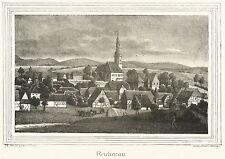 REICHENAU / BOGATYNIA - Gesamtansicht - Kirchen-Galerie - Lithografie 1840
