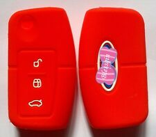 RED SILICONE FLIP KEY COVER SUITS FORD FIESTA FOCUS MONDEO XR6 TERRITORY FALCON