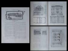 CONSTRUCTION MODERNE n°28 1908 PARIS, HOTEL ANNALES, ANGOULEME, CHAMBRE COMMERCE
