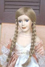 "Doll Wig - W287 Luxurious long braids - size 14""(head): CHOICE of color."