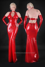100% Latex Rubber Gummi Kleid Dress 0,45mm Catsuit Ganzanzug Rot Overall Kostüm