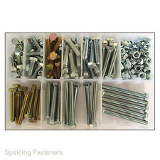 190 Assorted Zinc M7 Hex Bolts Fully Threaded High Tensile 8.8 Grade + M7 Nuts