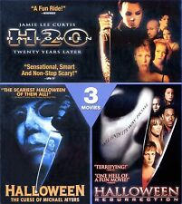 3 Halloween movies collection H20, Curse of MM, Resurrection, new Blu-ray Curtis