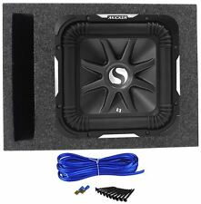 "Kicker S10L7-4 10"" Solo Baric L7 Square Car Subwoofer + Vented Sub Box Enclosure"