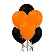 """15pack of 12"""" Balloons Black and Orange Assorted Colour Halloween birthday etc."""