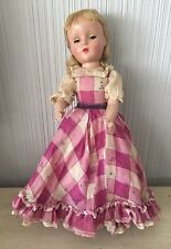 "VINTAGE MADAME ALEXANDER Little Women? Character DOLL With Dress 14"" Antique"