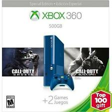 -/*BRAND NEW*- Xbox 360 500GB SPECIAL EDITION Blue Console Bundle w/ 2 Games!