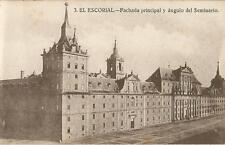 Tarjeta Postal EL ESCORIAL. - Fachada principal y ángulo del Seminario.