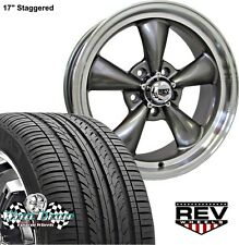 "17x7""-17x8"" GRAY REV CLASSIC 100 WHEELS & TIRES CHEVY S10 BLAZER 2wd 1982-2005"