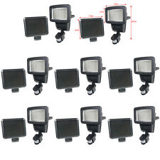 8 PACK 100 SMD LEDs Black Solar Powered Motion Sensor Security Light Flood 60 80