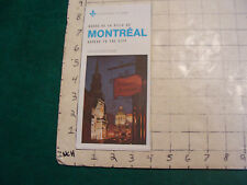 Vintage High Grade brochure/map: MONTREAL unused, 1974