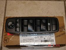 Mercedes-Benz GL R Class Genuine Left Front Door Window Mirror Master Switch NEW
