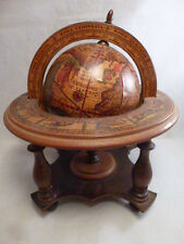 VINTAGE ANTIQUE  SPINNING GLOBE MADE IN ITALY ZODIAC