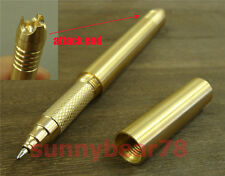 Attack Solid brass ball point pen emergency self defense kubaton ballpoint pen