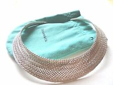 Tiffany & Co. 925 silver Weave Woven Vannerie collar necklace VERY rare