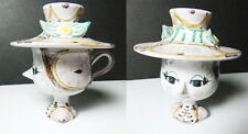 Bjorn Wiinblad Figural COVERED Head Cup with Lid, Mint