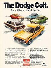 1975 Dodge Colt and GT Original Advertisement Print Art Car Ad J615