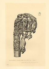 1881- 2  litho ( south  kensington museum ) carving of a crozier head .14th c.