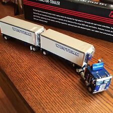 Western KENWORTH K100 TRACTOR Double Pup THERMO KING Reefer Trailer DCP Die-Cast