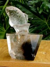 Quartz Crystal Carved Splashing Fish - Quartz Fish coming out of Water 1 of kind