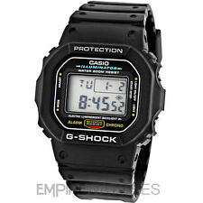 * Nuovo * Casio G-Shock da Uomo Illuminator Alarm Chrono Watch-dw-5600e-1v - RRP £ 99