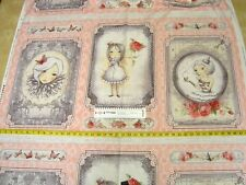 Baumwoll Stoff • Santoro • La vie en rose patch panel • Quilt Stoff • 0,57m