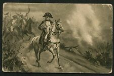 C1910 Art Card - Napoloeon on his White Horse in Action