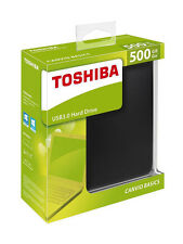 500GB Basics USB 3.0 Portable External Flash Hard Drive For Toshiba Canvio Black