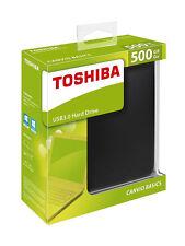 500GB Basics USB 3.0 Portable External Flash Hard Drive For Toshiba Canvio Black