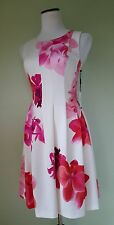 NWT CALVIN KLEIN FLORAL WHITE PINK SUMMER COCTAIL DRESS SIZE 4