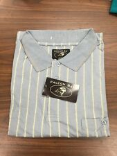 Big Mens New Size 6X Polo Shirt BLUE STRIPE , 6XL, 6X