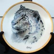 Vintage 1994 LENOX Great Cats of the World Collection SNOW LEOPARD Décor Plate