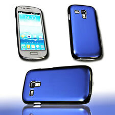 Design Back Cover Alu Blau für Samsung i8190 Galaxy S3 Mini + Displayschutzfolie