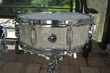"GRETSCH 14"" CATALINA CLUB SNARE DRUM in WHITE PEARL for YOUR DRUM SET! LOT #J574"