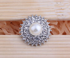 Handmade DIY new rhinestone chunk snap button fit nosa bracelet j4158