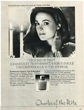 PUBLICITE ADVERTISING 085  1982  CHARLES OF THE RITZ   cosmétiques