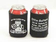 Lot of 6 Effin Guitars Can Koozies Six Collapsible Drink Cover Coozies with