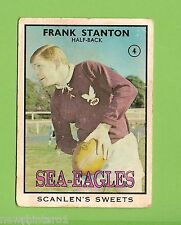 #D200 1968 SERIES 2 SCANLENS RUGBY LEAGUE CARD #4  FRANK STANTON, SEA EAGLES