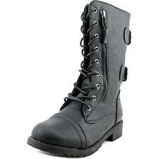 Daily Shoes Military Combat Women US 6 Black Ankle Boot NWOB  1644