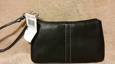 COACH Chelsea Pebbled Leather Capacity Wristlet 41526 Black