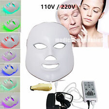 US-7Color LED Light Lamp Photon Facial Mask Skin Beauty Therapy Anti-aging Mask