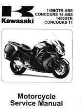 2010-2016 Kawasaki GTR1400 Concours 14 motorcycle service manual in binder